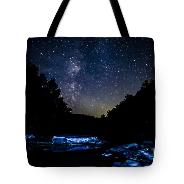 Milky Way Over Baptizing Hole Tote Bag