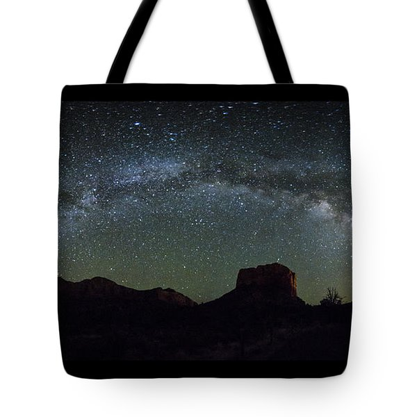 Milky Way Over Bell Tote Bag by Tom Kelly