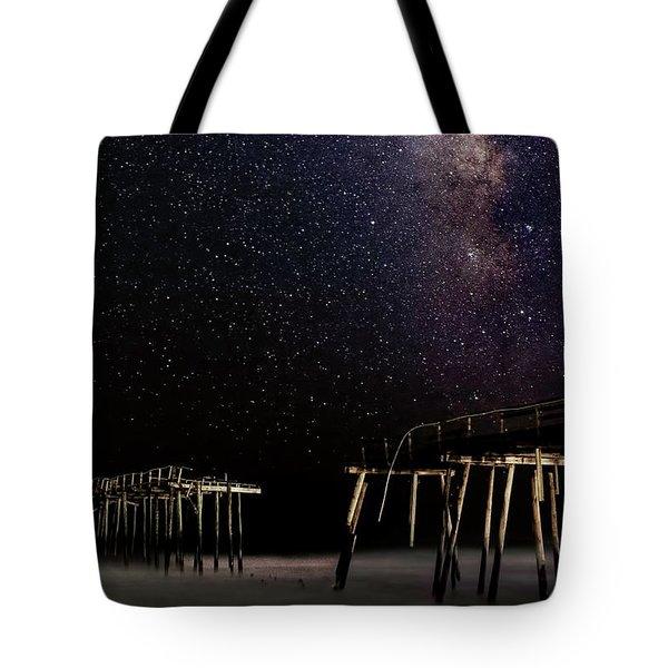 Milky Way Over Frisco Tote Bag