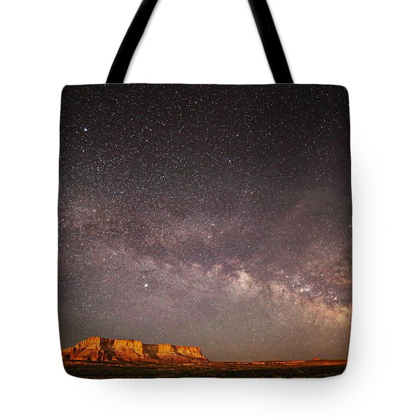 Milky Way Over Lechee Rock Near Page Az Tote Bag