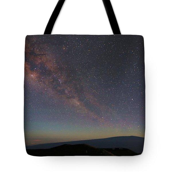 Milky Way Over Mauna Loa Tote Bag