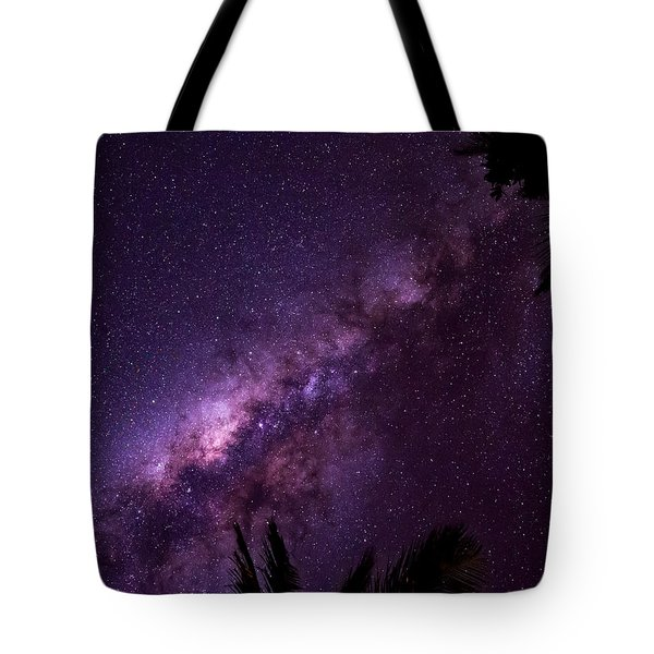 Tote Bag featuring the photograph Milky Way Over Mission Beach by Avian Resources