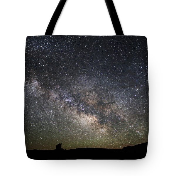Milky Way Over Monument Valley Tote Bag
