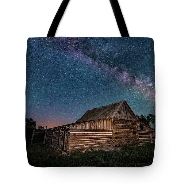 Milky Way Over Moulton Barn Tote Bag