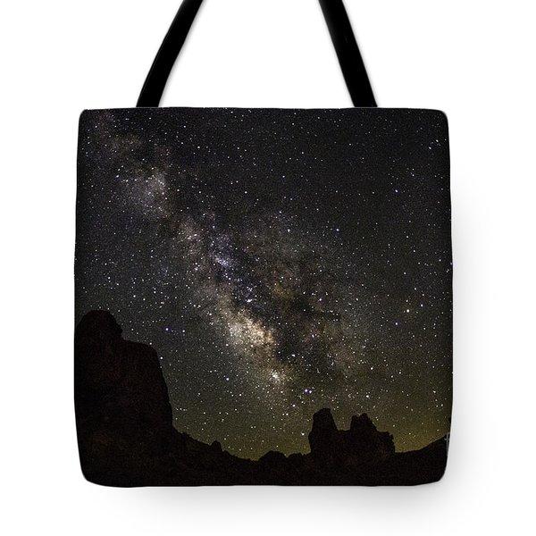 Milky Way Over Trona Pinnacles Tote Bag