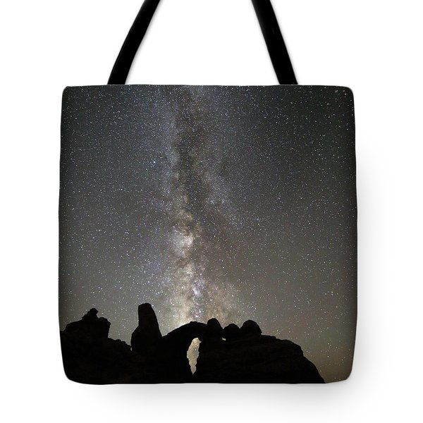 Milky Way Over Turret Arch Tote Bag