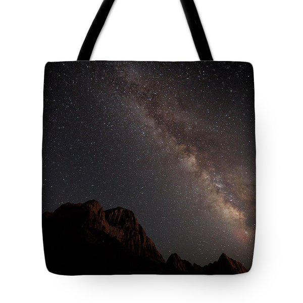 Milky Way Over Zion Tote Bag