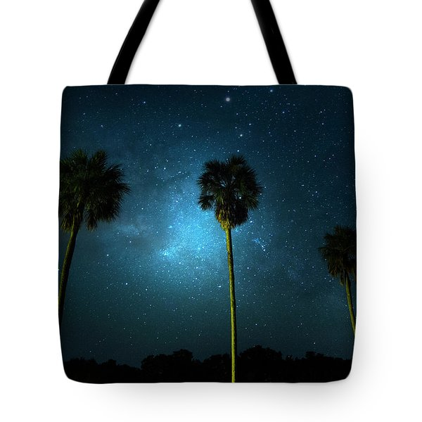 Milky Way Planet Tote Bag by Mark Andrew Thomas