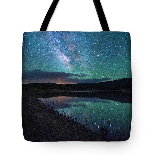 Milky Way Reflections Tote Bag