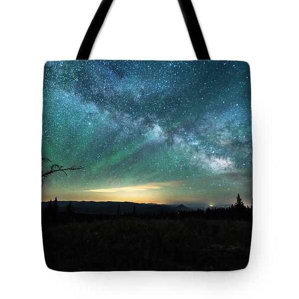 Milky Way Rising Tote Bag