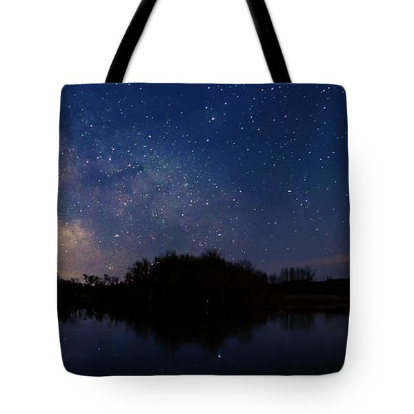 Milky Way Rising Tote Bag