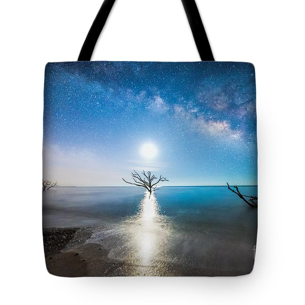 Milky Way Shore Tote Bag by Robert Loe