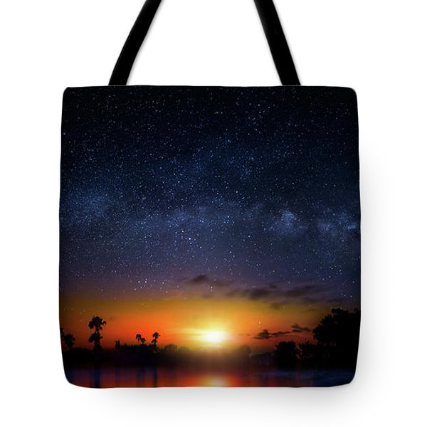 Milky Way Sunrise Tote Bag by Mark Andrew Thomas