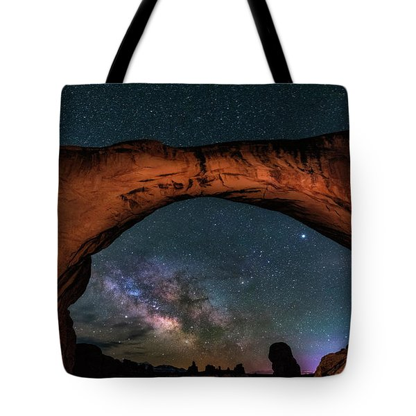 Milky Way Under The Arch Tote Bag