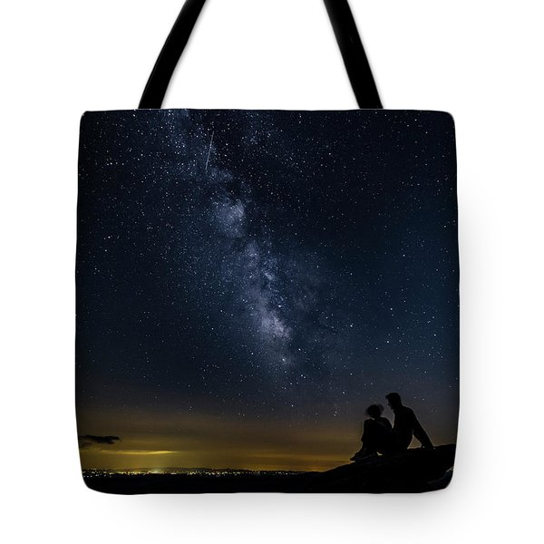 Milky Way Viewed From Rough Ridge Tote Bag