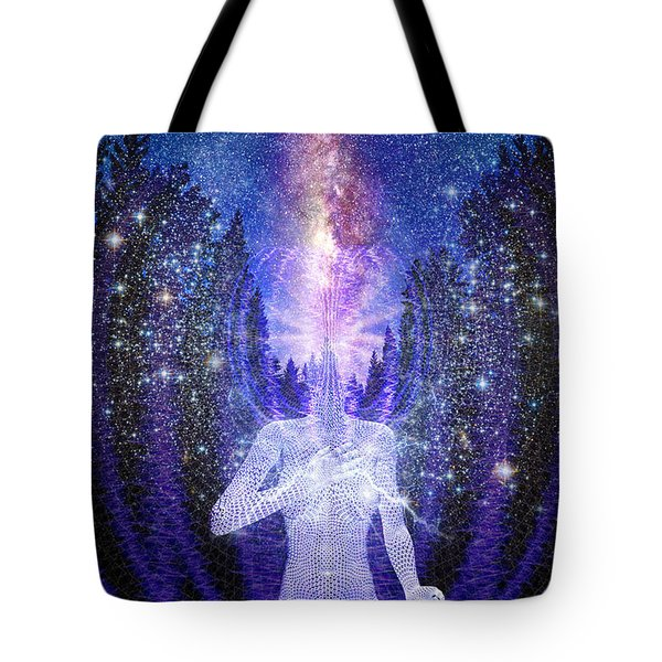 Milkyway Awakening Tote Bag by Robby Donaghey