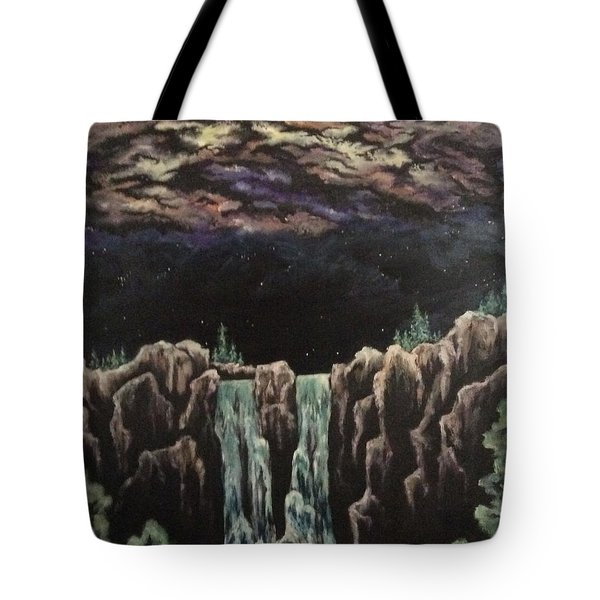 Tote Bag featuring the painting Milkyway by Cheryl Pettigrew