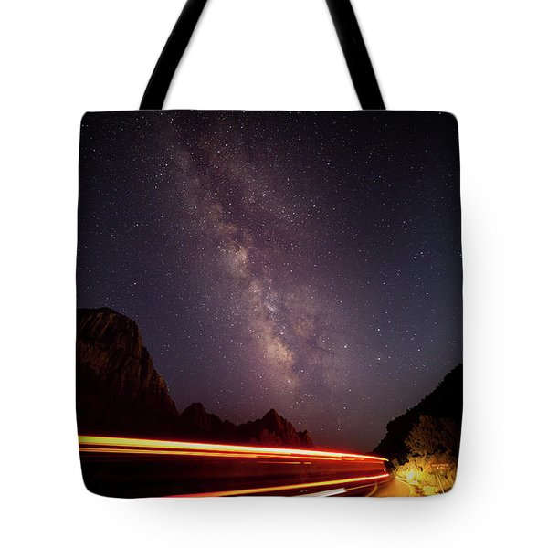 Milkyway Over The Higway Tote Bag
