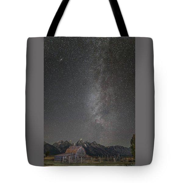 Milkyway Over The John Moulton Barn Tote Bag by Roman Kurywczak