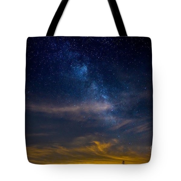 Milkyway With Sky Glow Tote Bag