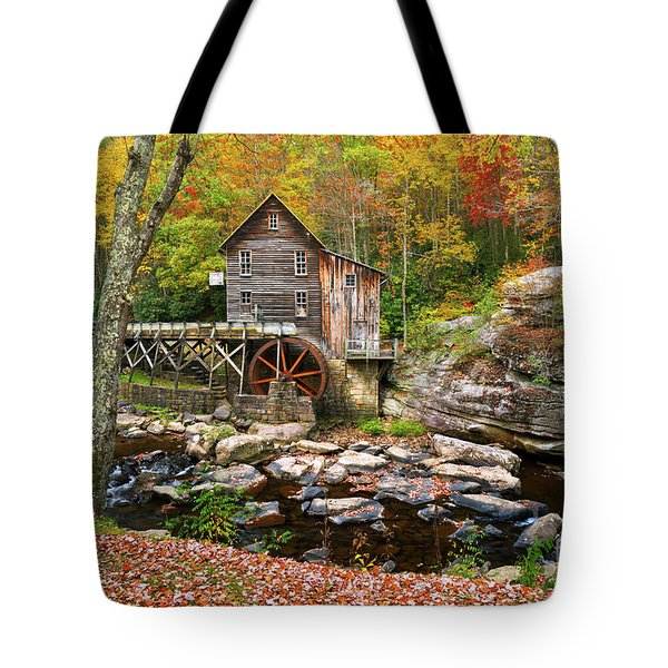 Mill At Babcock State Park Tote Bag