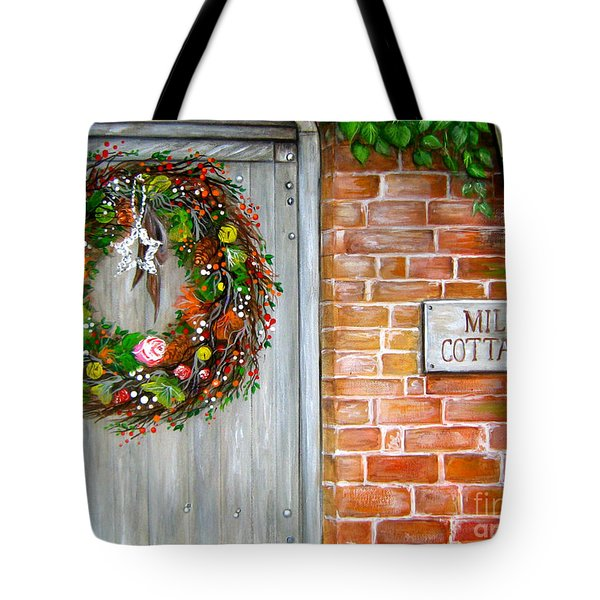 Mill Cottage Tote Bag by Patrice Torrillo