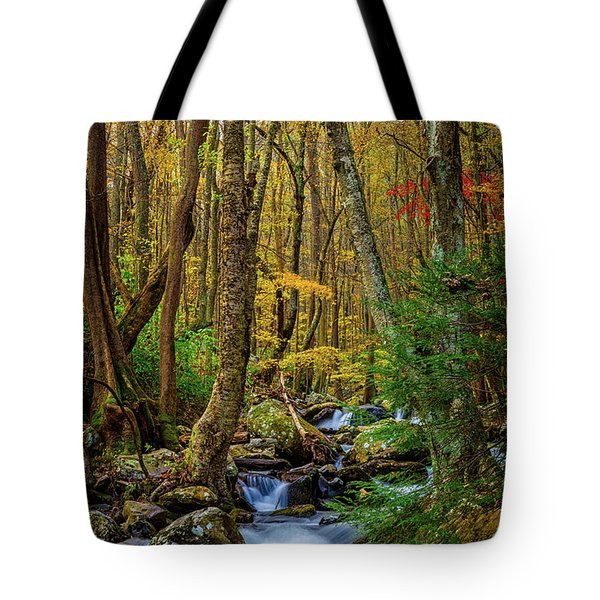 Mill Creek In Fall #1 Tote Bag