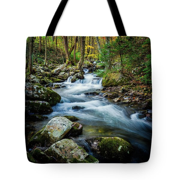 Mill Creek In Fall #3 Tote Bag