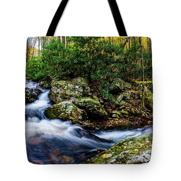 Mill Creek In Fall #4 Tote Bag