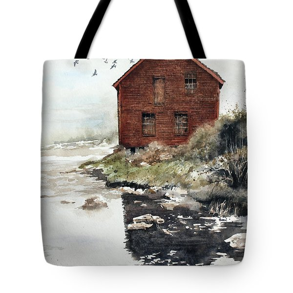 Mill Pond Tote Bag by Monte Toon