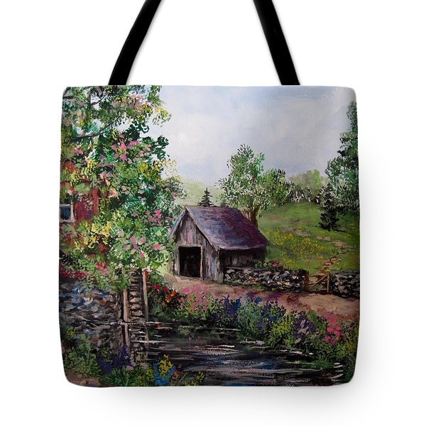 Mill Pond Road Tote Bag by Megan Walsh