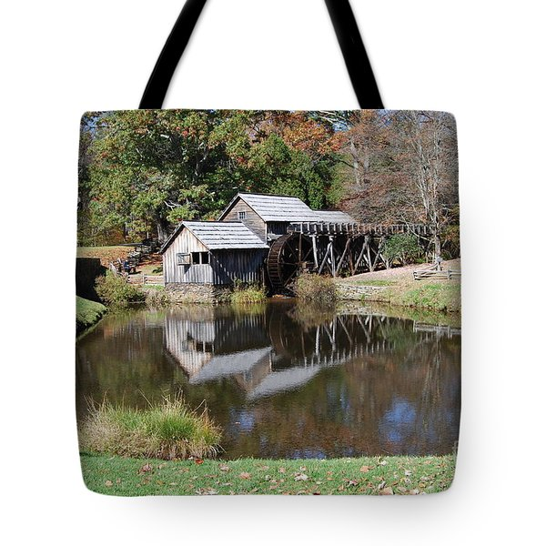 Tote Bag featuring the photograph Mill Reflections by Eric Liller