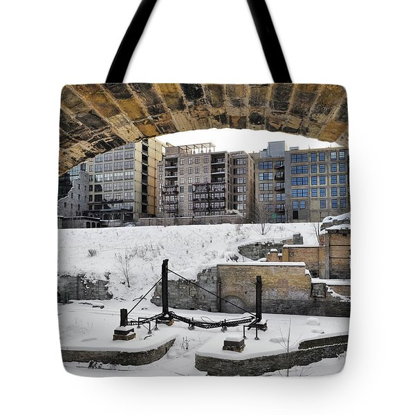 Mill Ruins Park Winter Tote Bag