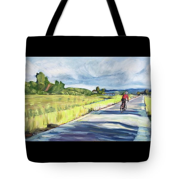 Mill Valley Bike Path Tote Bag by Colleen Proppe