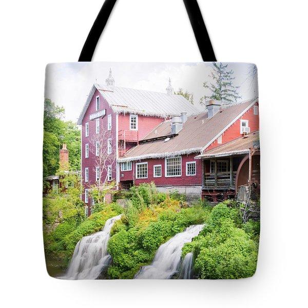 Mill Water Falls Hdr Tote Bag