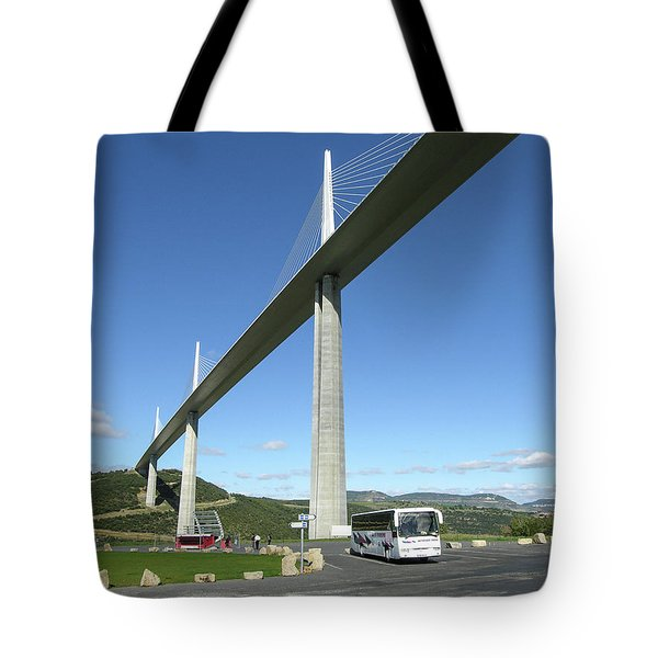 Tote Bag featuring the photograph Millau Viaduct by Jim Mathis