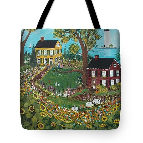 Tote Bag featuring the painting Millefiori by Virginia Coyle