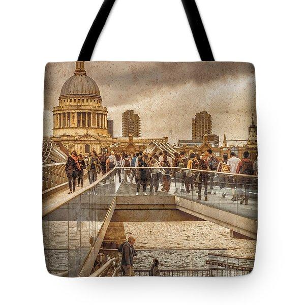 London, England - Millennium Bridge II Tote Bag