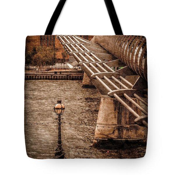 London, England - Millennium Bridge Tote Bag