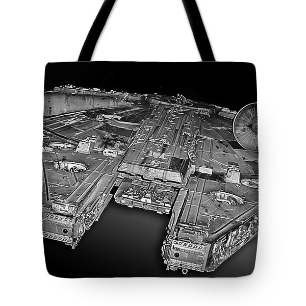 Millennium Falcon Attack Tote Bag