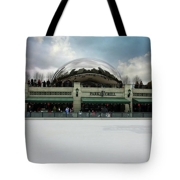 Tote Bag featuring the photograph Millennium Park Ice Skating Rink by Jackson Pearson