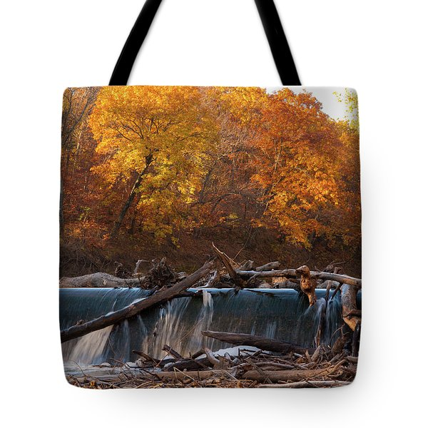 Tote Bag featuring the photograph Miller's Dam by Jeff Phillippi
