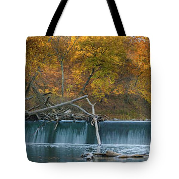 Tote Bag featuring the photograph Miller's Dam Pano by Jeff Phillippi