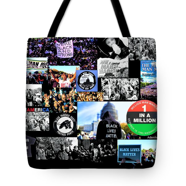 Million Man March Montage Tote Bag