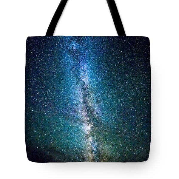 Millky Way Over Lodgepole Pines Tote Bag
