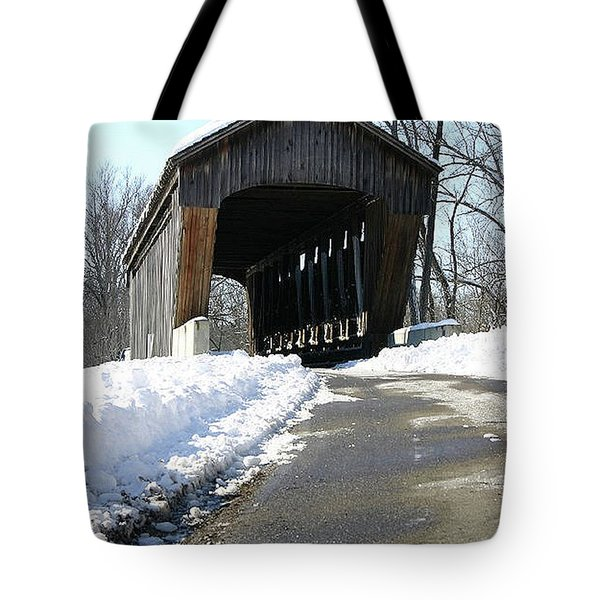 Millrace Park Old Covered Bridge - Columbus Indiana Tote Bag
