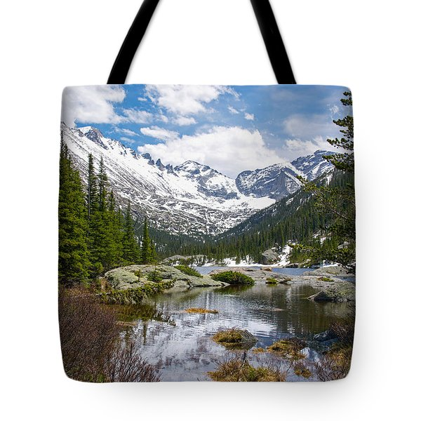 Mills Lake - Rocky Mountain National Park Tote Bag