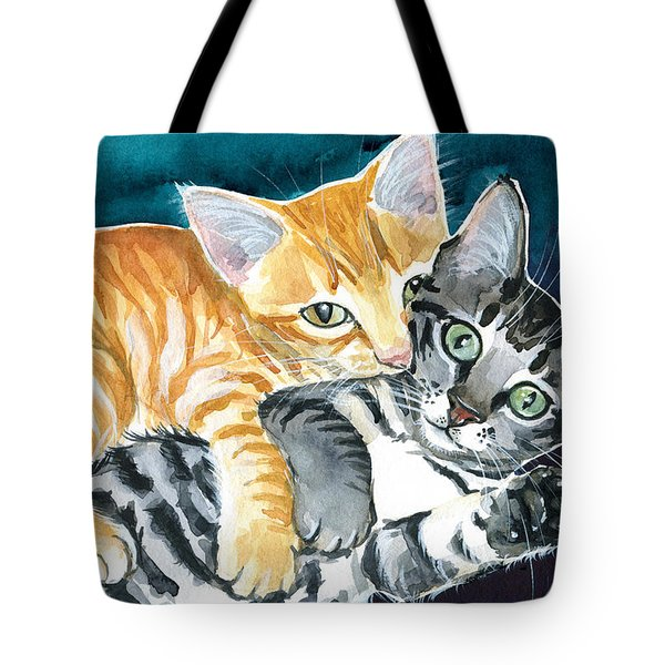 Milo And Tigger - Cute Kitty Painting Tote Bag