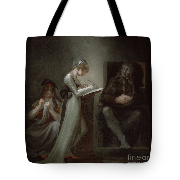 Milton Dictating To His Daughter Tote Bag