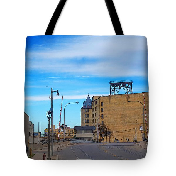 Tote Bag featuring the digital art Milwaukee Cold Storage Co by David Blank